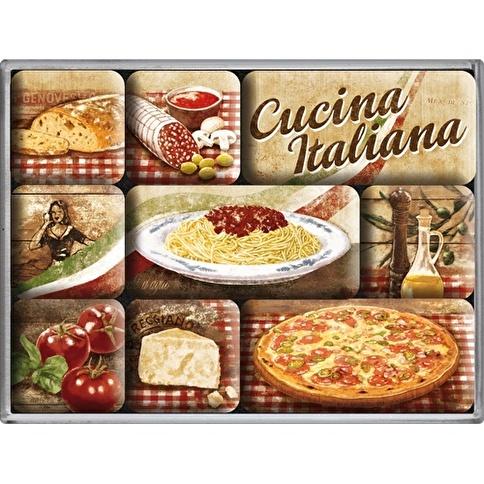Nostalgic Art Cucina Italiana Magnet Set 9P Renkli